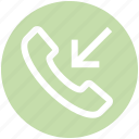 call, communication, contact, incoming, landline, phone, telephone icon
