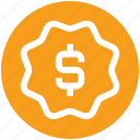 dollar, label, price, price tag, sign, tag icon