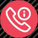 call, communication, contact, exclamation mark, landline, phone, telephone icon