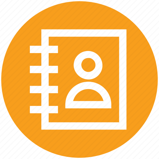 address book, book, contacts, phone book, telephone icon