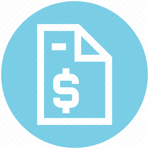 document, dollar, file, page, paper, sign icon