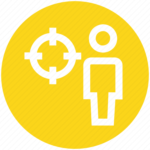account, audience, customer, marketing, target, user icon