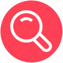 find, glass, magnifier, search, searching, zoom icon