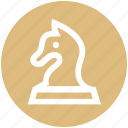 chess, chess horse, game, horse, play icon