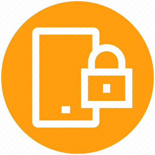 cell phone, device, lock, mobile, phone, security, smartphone icon