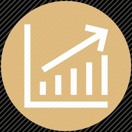 analytics, bar, chart, graph, stats, up icon