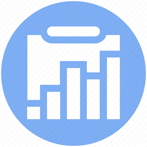 analytics, bar graph, chart, clipboard, document, graph, statistics icon