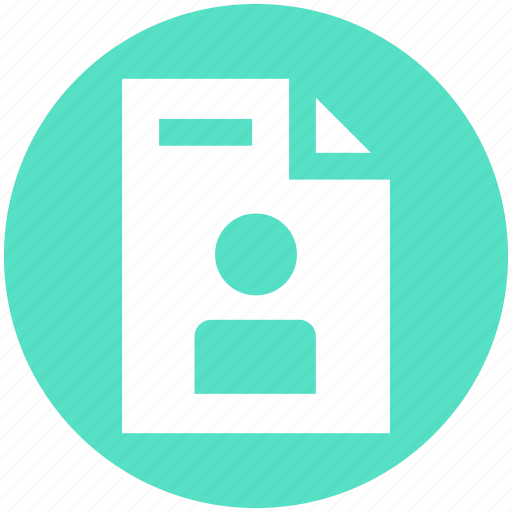 author, document, file, page, paper, personal, user icon