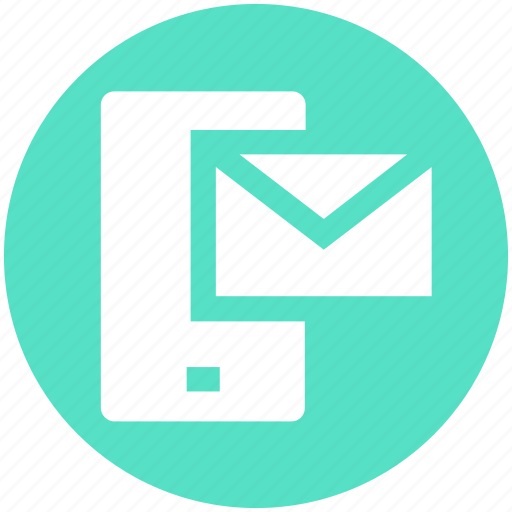 cell phone, device, envelope, letter, mobile, phone, smartphone icon