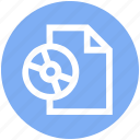 cd, disc, document, drive, file, page, paper icon