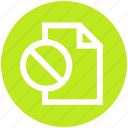ban, document, file, no, off, page, paper icon
