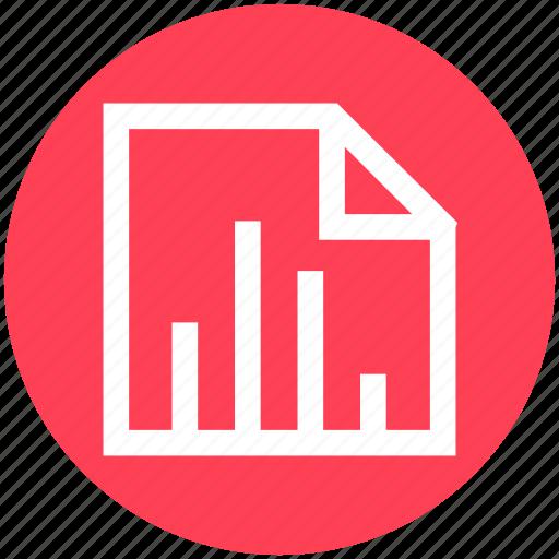 analytics, bar graph, chart, clipboard, document, graph, statistics icon
