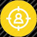 aim, business, focus, goal, person, target, user