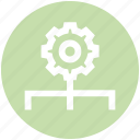 cogwheel, connection, gear, network, preference, setting, technology icon
