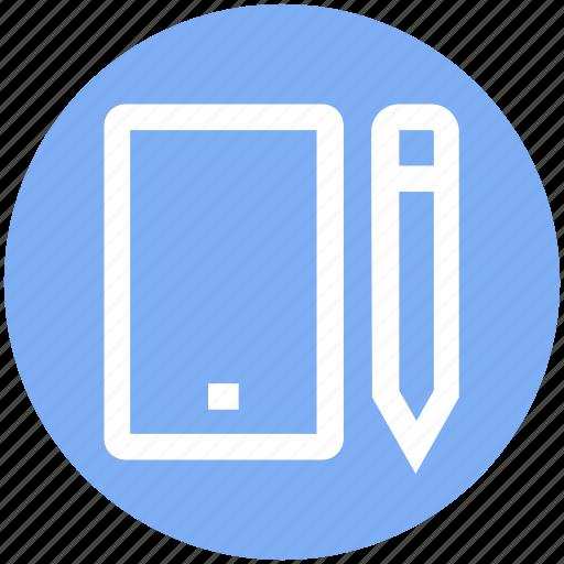 composing, device, edit, mobile, pencil, phone, smartphone icon