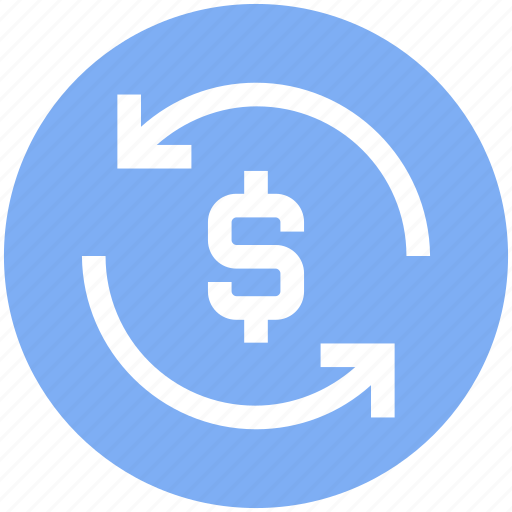 arrows, cash, dollar, refresh, sync, turnover, update icon