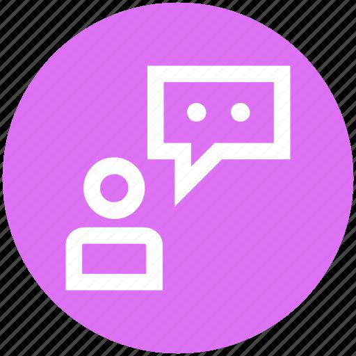 employee, office, people, talking, user, worker icon