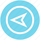 compass, direction, left arrow, location, map, navigation, pointer icon