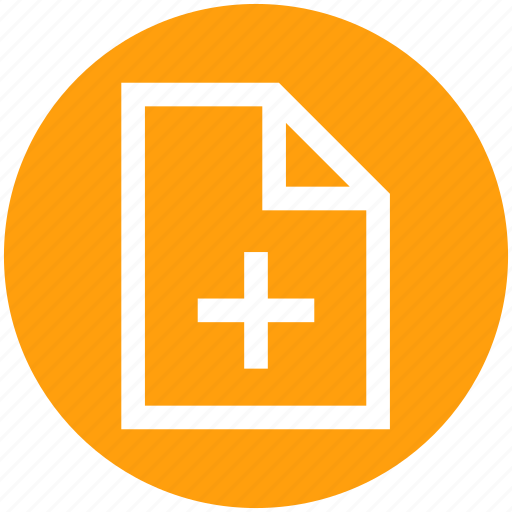add, blank, document, file, page, paper, plus icon