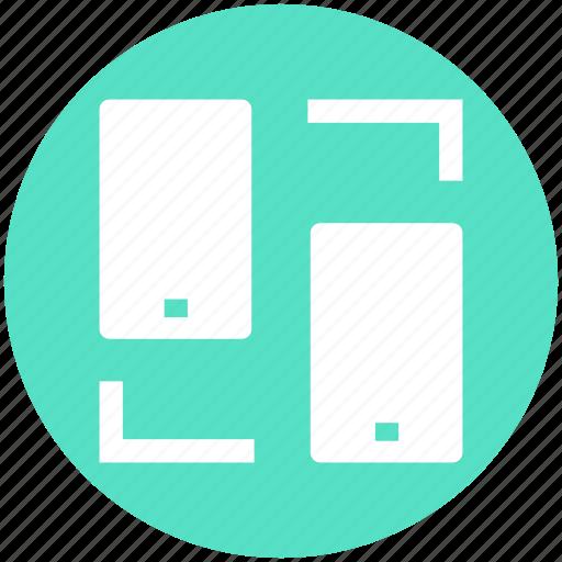 data sharing, media, mobile sharing, network, phone, sharing, synchronization icon