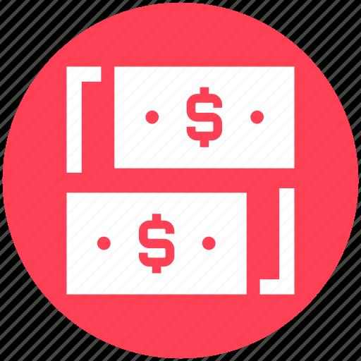 bill, cash, dollar, dollar notes, money, notes, sharing icon