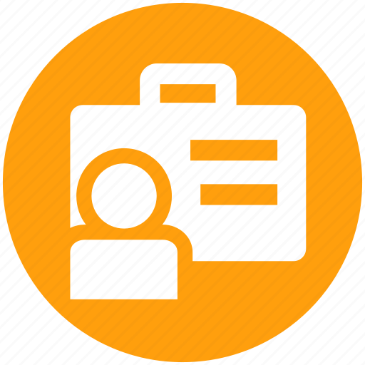 bag, briefcase, business, employee, person, portfolio, user icon