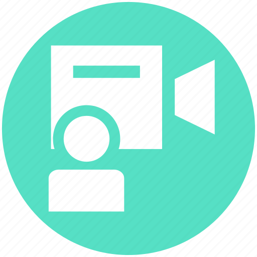 action, call, camera, people, user, video icon