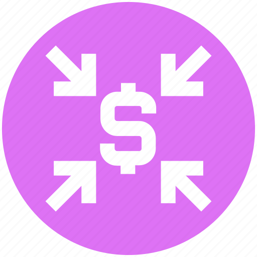 arrows, dollar, economy, finance, money, sign icon