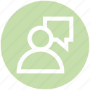 chat, employee, human, message, people, person, user icon