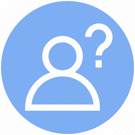 employee, help, human, people, person, question mark, user icon