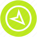 arrow, compass, direction, location, map, navigation, pointer icon