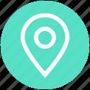 gps, location, map, navigation, pin, point, sticky icon