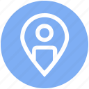 gps, location, map, navigation, pin, point, user icon