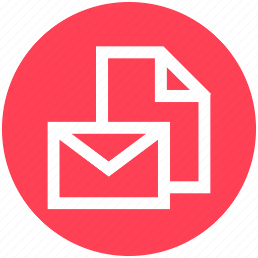 document, envelope, letter, mail, page, paper, text icon