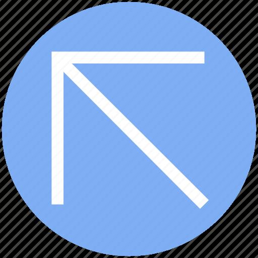 arrow, cursor, mouse, mouse arrow, pointer, up, up left icon
