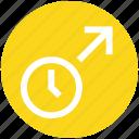 alarm, arrow, clock, time, up, up arrow, watch icon