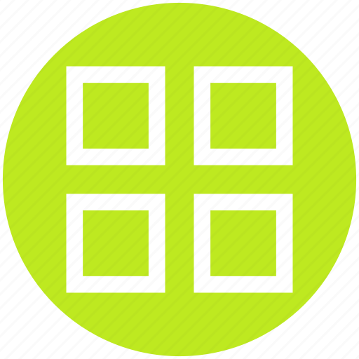 application, four, grid, layout, menu, square, wingding icon