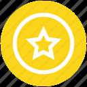 badge, bookmark, circle, favorite, rate, rating, star icon