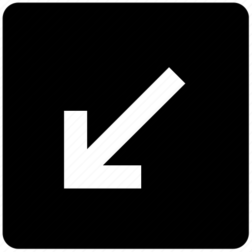Arrow, box, down, down arrow, forward, material, square icon - Download on Iconfinder