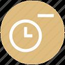 alarm, clock, minus, optimization, remove, time, watch