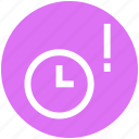 alarm, clock, exclamation, mark, optimization, time, watch