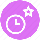 alarm, clock, favorite, optimization, star, time, watch icon