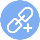 add, chain, connect, hyperlink, link, linkage, url icon