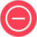 circle, delete, minus, minus circle, remove icon