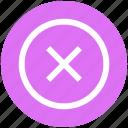 cancel, circle, cross, cross circle, delete icon