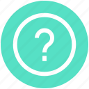 circle, help, question mark, sign icon