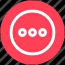 circle, dots, function, menu, round icon