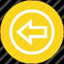 arrow, circle, forward, left, left arrow, material icon
