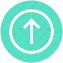arrow, circle, material, send, up, up arrow icon