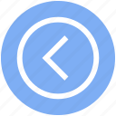 arrow, calculation, circle, inequality, left greater, less than symbols icon